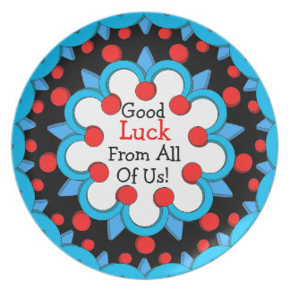 Good Luck Kaleidoscope Design Serving Plate