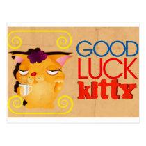 Good Luck Kitty Postcard