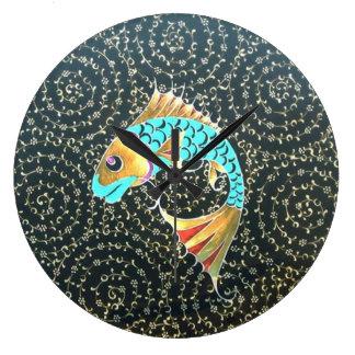 Good Luck Koi Carp Fish Symbol Wall Clock