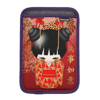 Good Luck Kokeshi Doll iPad Mini Sleeve