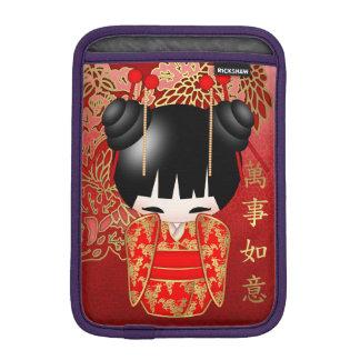 Good Luck Kokeshi Doll iPad Mini Sleeve