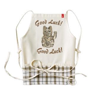 Good Luck! Lucky cat, Maneki-neko Zazzle HEART Apron