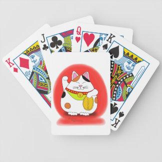 Good Luck Maneki Neko Bicycle Playing Cards