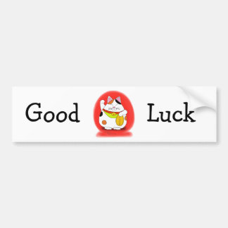 Good Luck Maneki Neko Bumper Sticker