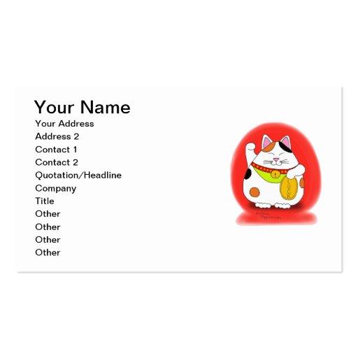 Good Luck Maneki Neko Business Cards