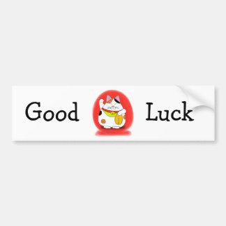 Good Luck Maneki Neko Car Bumper Sticker