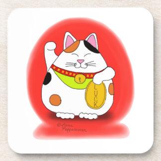 Good Luck Maneki Neko Coaster