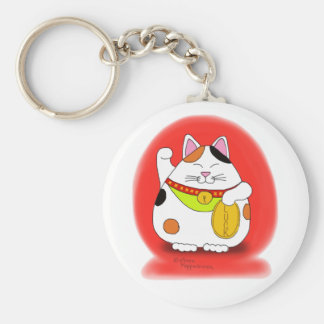 Good Luck Maneki Neko Keychain