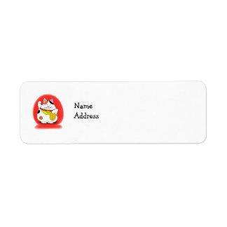 Good Luck Maneki Neko Custom Return Address Labels
