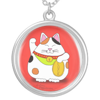 Good Luck Maneki Neko Personalized Necklace