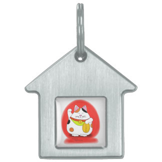 Good Luck Maneki Neko Pet Tag