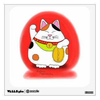 Good Luck Maneki Neko Wall Sticker
