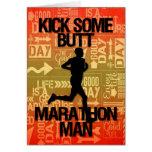 Good Luck Marathon Man Kick Some Butt Greeting Card