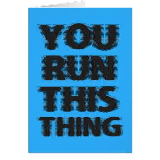 Good Luck Marathon Runner Card