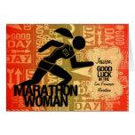 Good Luck Marathon Woman Sports Theme Custom Card