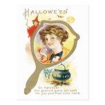 Good Luck Mirror Vintage Postcard