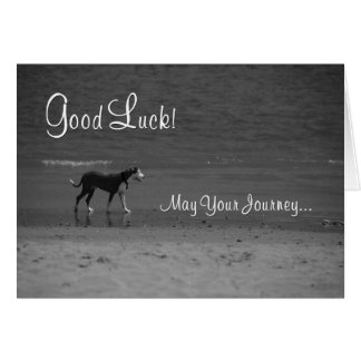 Good Luck on Your Journey Greeting Card