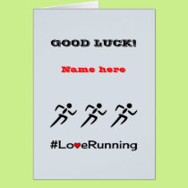 Good Luck personalise running Card