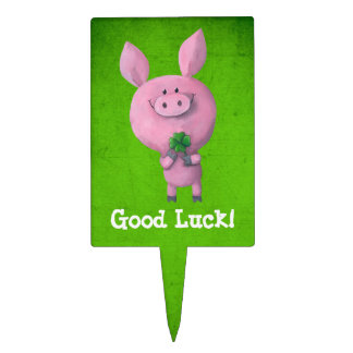Good Luck Pig Cake Toppers