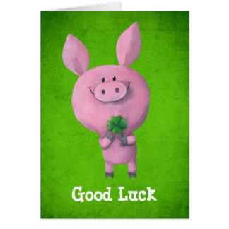 Good Luck Pig Greeting Card