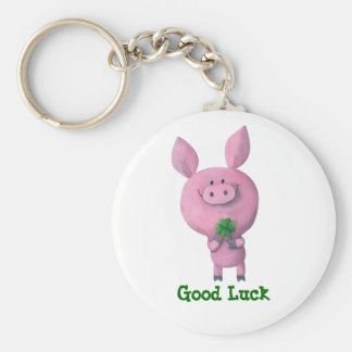 Good Luck Pig Keychain