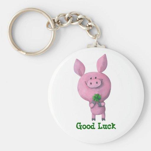 Good Luck Pig Keychains