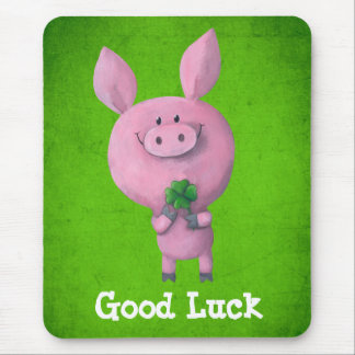 Good Luck Pig Mouse Pad