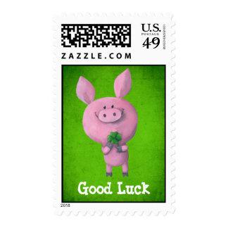 Good Luck Pig Stamp