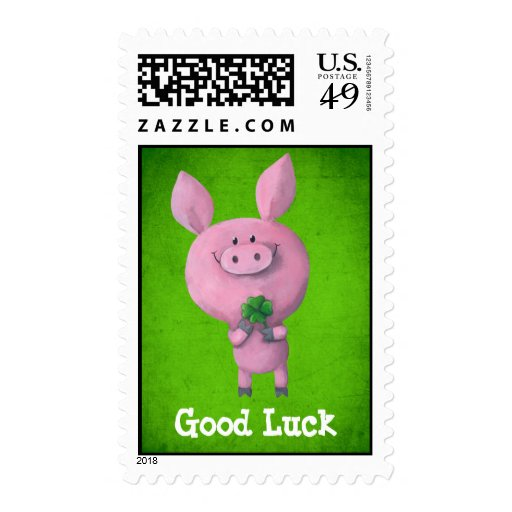 Good Luck Pig Stamps