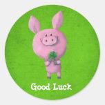 Good Luck Pig Sticker