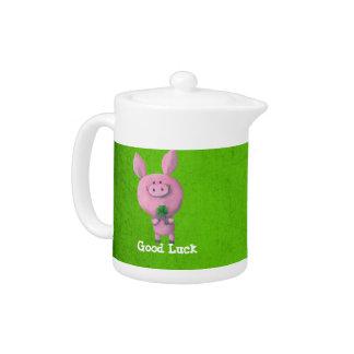 Good Luck Pig Teapot
