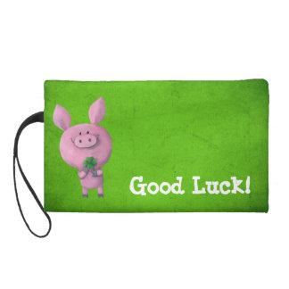 Good Luck Pig Wristlet