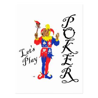 Good Luck Poker Terrier Postcard
