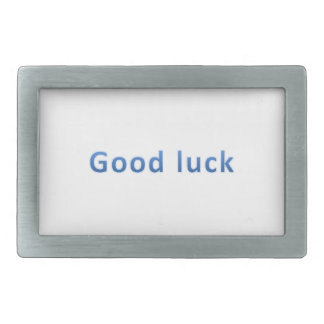 Good luck rectangular belt buckle