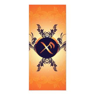 Good luck rune 4x9.25 paper invitation card