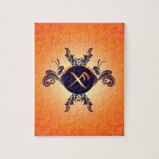 Good luck rune jigsaw puzzle