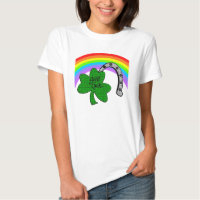 Good Luck Shamrock, Rainbow and Horseshoe T-Shirt