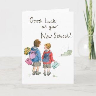 Good Luck - Starting School card