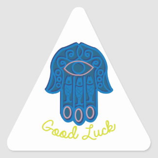 Good Luck Triangle Sticker