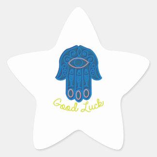 Good Luck Star Sticker