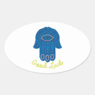 Good Luck Oval Sticker