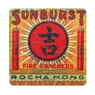 Good Luck Sunburst Firecracker Coaster Puzzle