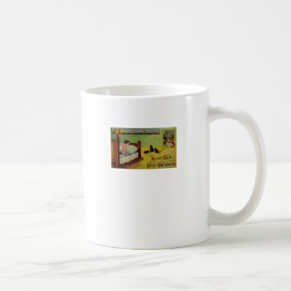 Good Luck This Halloween (Vintage Halloween Card) Coffee Mug
