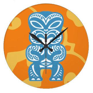 Good Luck Tiki Round (Large) Wall Clock