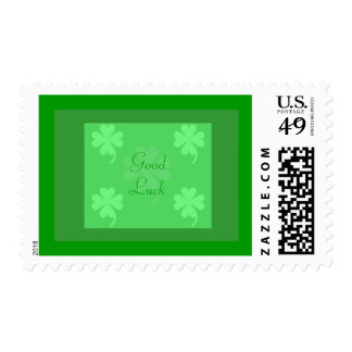 Good Luck United States Postage Stamp by Janz