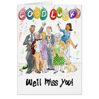 'Good Luck, We'll Miss You!' Card