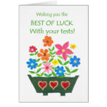 Good Luck with Tests Card - Flower Power
