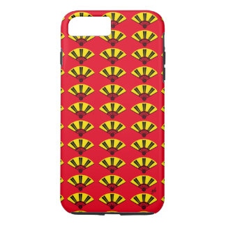 Good Luck Yellow and Black, Asian Fan Design iPhone 7 Plus Case