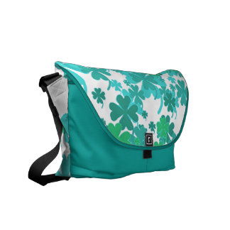 Good LuckTurquoise Charms Messenger Bag by Janz