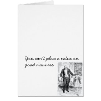 Good Manners Postcard